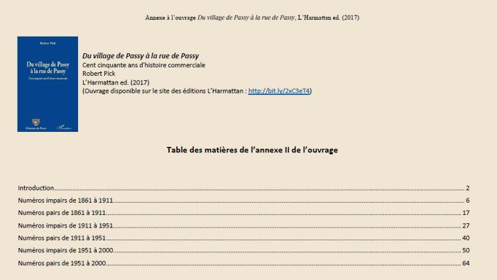 Annexe 2 : Du village de Passy à la rue de Passy